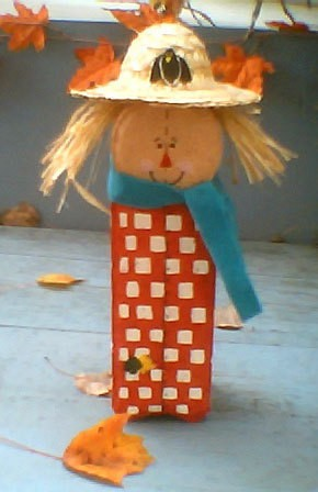 Patio Paver Scarecrow Thriftyfun