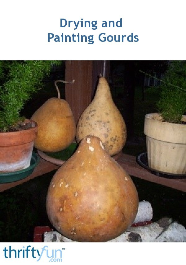 Drying And Painting Gourds ThriftyFun