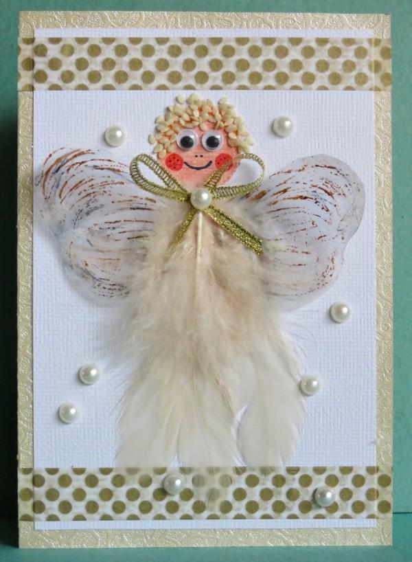 Making An Angel Christmas Card ThriftyFun
