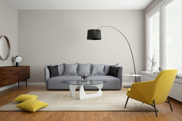 Carpet Color to Coordinate With a Grey Couch   ThriftyFun Modern scandinavian living room with grey sofa