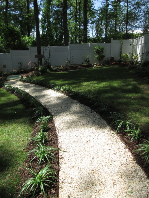 Making An Easy Garden Path | ThriftyFun on Sloping Garden Path Ideas  id=48066