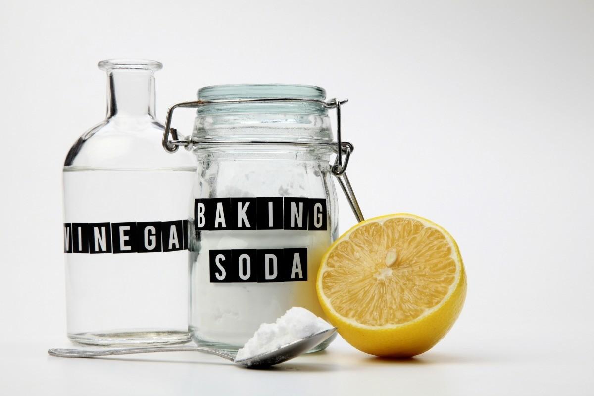 drain with vinegar and baking soda