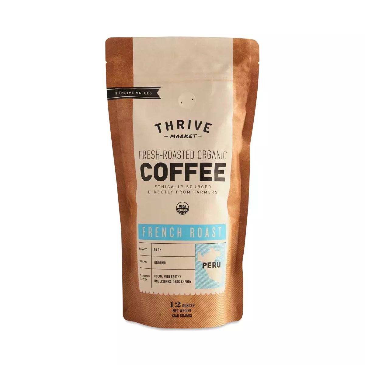 Organic French Roast Coffee, Ground