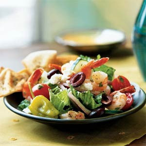 Greek Salad with Shrimp from Cooking Light