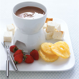 Chocolate Bar Fondue from Real Simple