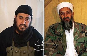 Abu Musab al-Zarqawi and Osama Bin Laden