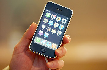 The new Apple Iphone 3G.