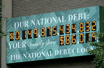 Image result for debt clock