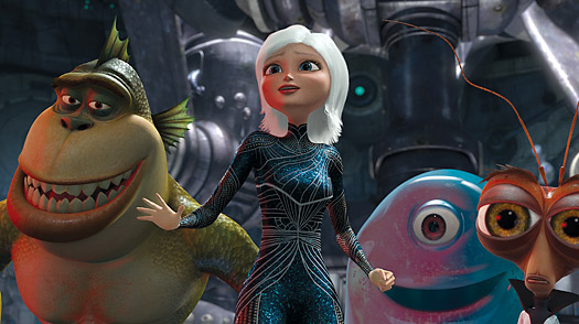 Monsters vs Aliens: A 3-D Doozy