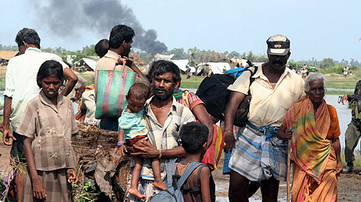 Thousands of Civilians Escape as Sri Lanka Corners the Tamil Tigers