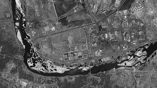 This satellite image, provided by DigitalGlobe, shows the nuclear complex at Yongbyon, North Korea, on May 26, 2009