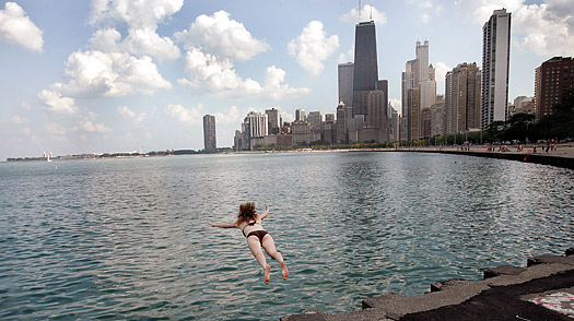 No Ocean, But Chicago Moves to Legalize Surfing