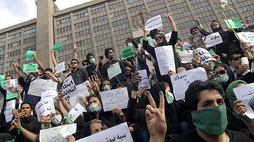 On Scene: Among the Protesters in Tehran