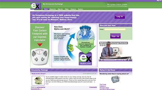Cap-and-Trade Website: Make Money by Going Green