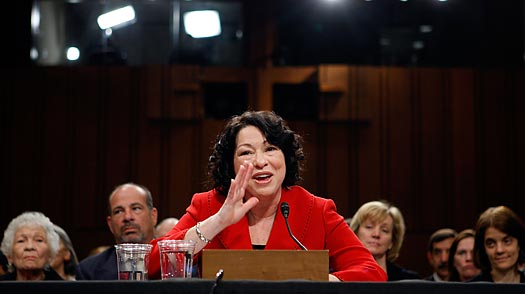 Sotomayor Keeps Her Cool on the Senate Hot Seat