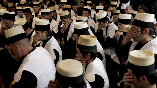 Kosovo dervishes, adepts of Sufism — a mystical form of Islam that preaches tolerance and a search for understanding — meet in a prayer room in the city of Prizren
