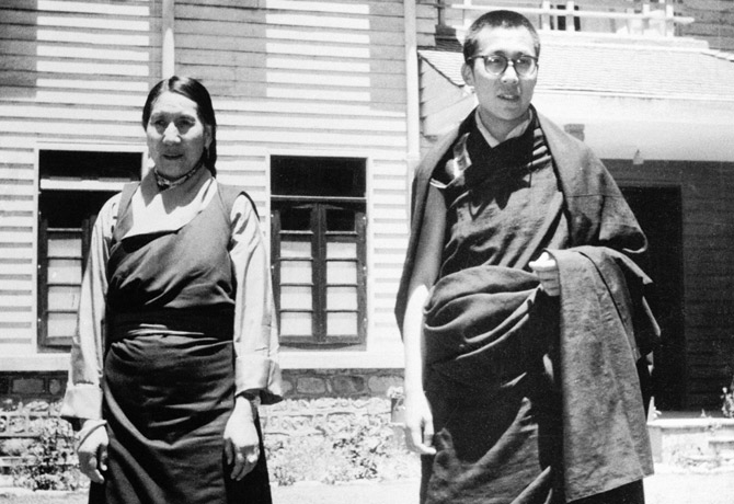 Tenzin Gyatso, the 14th Dalai Lama, and his mother     Source, courtesy & more: http://www.time.com/time/magazine/article/0,9171,864579,00.html#ixzz1pPPL4MwE     The Dalai Lama Escapes from the Chinese - TIME