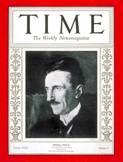 Image result for nikola tesla time cover