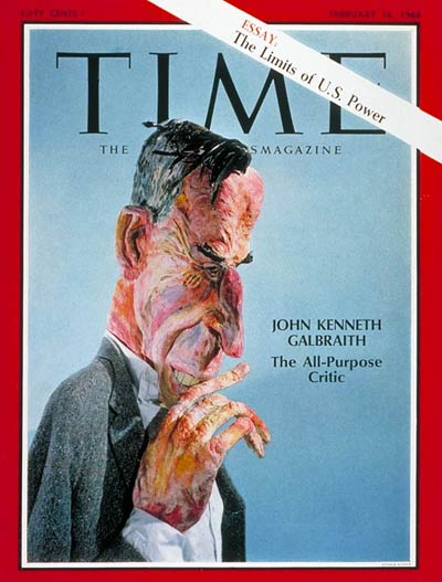 John Kenneth Galbraith, in paper mache, by Frank Lerner, for Time Magazine cover February 16, 1968