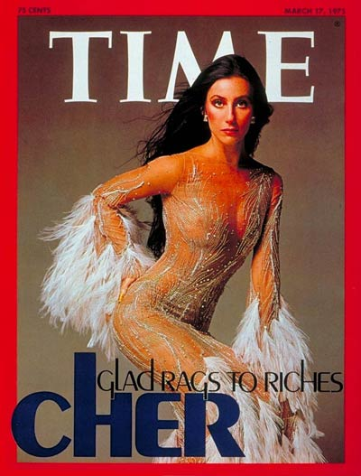 Cher in Bob Mackie on the cover of TIME magazine, 1975