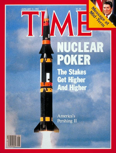 TIME Magazine Cover: Pershing II Missile -- Jan. 31, 1983