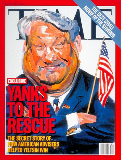 Image result for yeltsin time cover yanks to the rescue