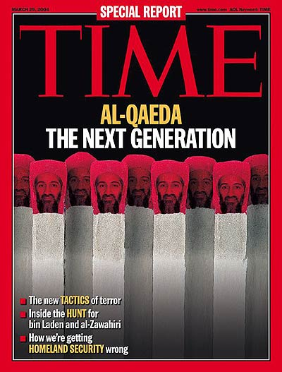 'Al Qaeda The Next Generation.' Photomontage. Osama Bin Laden face by AP.