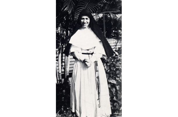 After taking her vows, she chooses the name Teresa after the patron saint of missionaries.