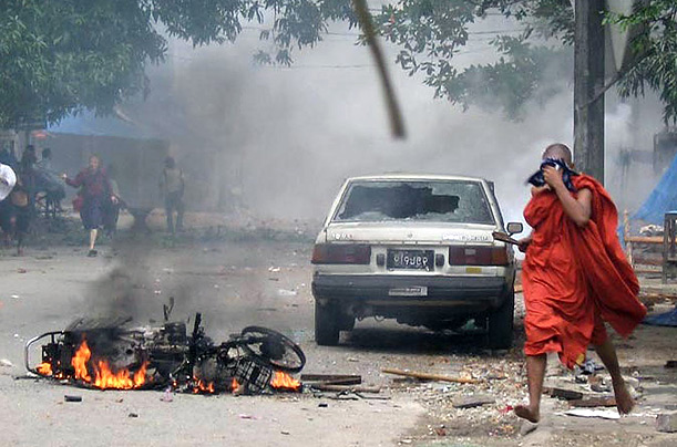 Aung San Suu Kyi Myanmar Protest Monks Junta Military Rule Burma Nobel Peace Prize