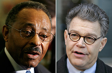 Burris and Franken battle for seats
