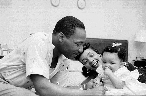 The Kings at Home  Born in Atlanta, Martin Luther King, Jr. and his new wife Coretta moved to Montgomery, Alabama, in 1955 after King accepted a position as pastor of the Dexter Avenue Baptist Church.