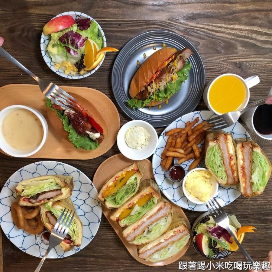 新竹早午餐|湘林義式廚坊。單點三明治.沙拉堡有一份湯品及飲料咖啡奶茶無限暢飲平價又豐盛的享受。大推日式豬排(菜單營業時間地址電話)–踢小米食記