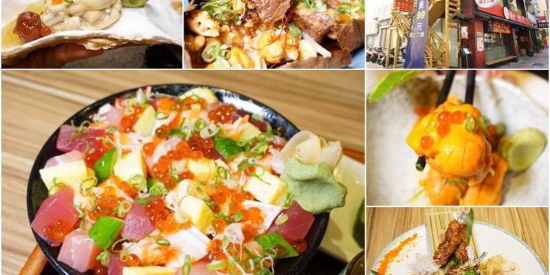 桃園美食|河原町日本料理-中正路上平價+創意日式料理。推薦繽紛散壽司定食。南蠻蒜香雞唐揚。海膽。大生蠔。串燒。現流海鮮(食材新鮮/好停車/燦坤旁停車場/丼飯/邀約)--踢小米食記