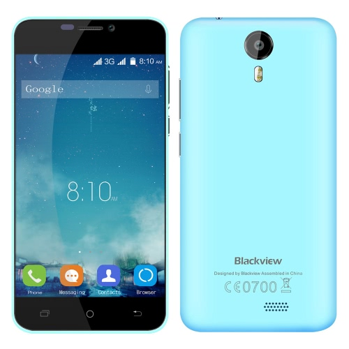 "Blackview BV2000S 3G WCDMA Smartphone Android 5.1 OS Quad Core MTK6580 5.0"" Screen 1.0GHz 1GB RAM 8GB ROM 5MP 8MP Dual Cameras"