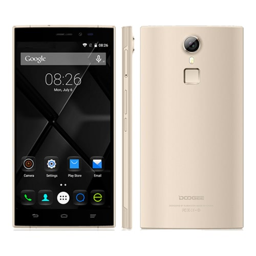 "DOOGEE F5 5.5"" 4G Smartphone MTK6753 64bit Octa Core Metal Frame Cell Phone Android 5.1 3GB+16GB 13.0MP 1920*1080 Fingerprint ID Pedometer Dual SIM Card Smartphone"
