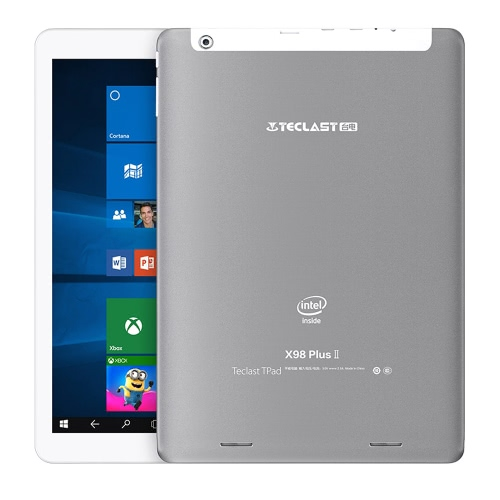 Teclast X98 Plus II Tablet PC Android 5.1/Windows 10 Home Cherry Trail X5 9.7inch IPS Screen 1.84GHz 4:3 4GB RAM 64GB ROM 2MP 2MP Dual Cameras Dual Stereo Speakers