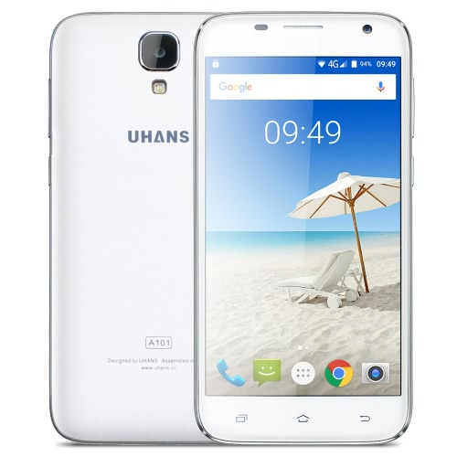 UHANS A101 Smartphone 4G-LTE MTK6737 1.25GHz 64-bit Quad Core 5.0 Inches HD 1280*720 IPS 1G+8G 5MP+8MP Camera Ultrathin Body 2450mAh WiFi HiFi