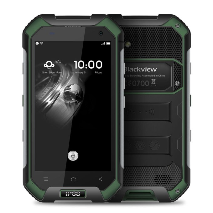 tomtop Blackview  BV6000 MTK6755 Helio P10 2.0GHz 8コア GREEN(グリーン)
