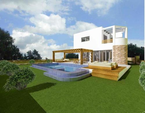 Отель Lardos Villa Sleeps 6 with Pool Air Con and WiFi ...