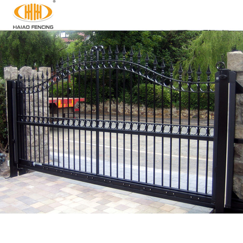 Decorative wrought iron gates simple modern steel wrought ... on Iron Get Design  id=86041