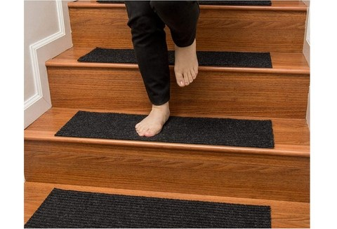 Indoor Stair Rugs Non Slip Rubber Carpet Mats Stair Tread   Non Slip Stair Rugs   Bullnose Carpet   Carpet Rug   Mat   Stair Runners   Tread Covers