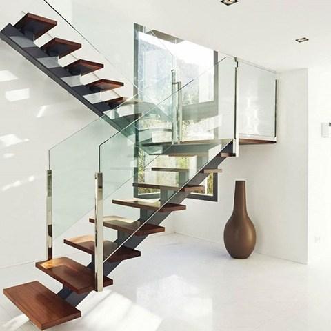 Top Level Frameless Glass Railing U Shaped Staircase Wholesale | Frameless Glass Stair Railing | Metal | Seamless Glass | Handrail | Framed Glass | Office