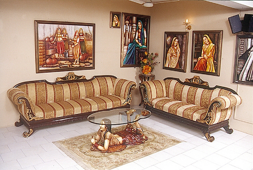 Indian Sofa Sets Wooden Sofa With Indian Clic Style
