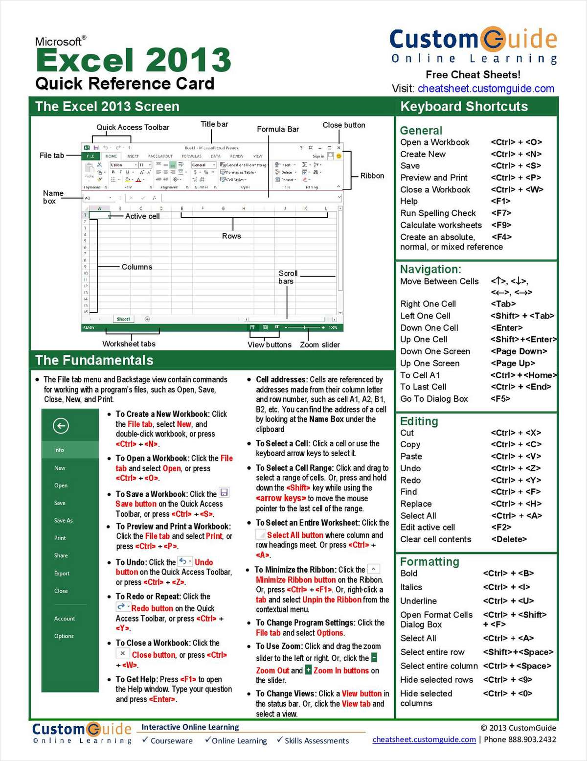 Microsoft Excel Quick Reference Guide Free Tips And Tricks Guide