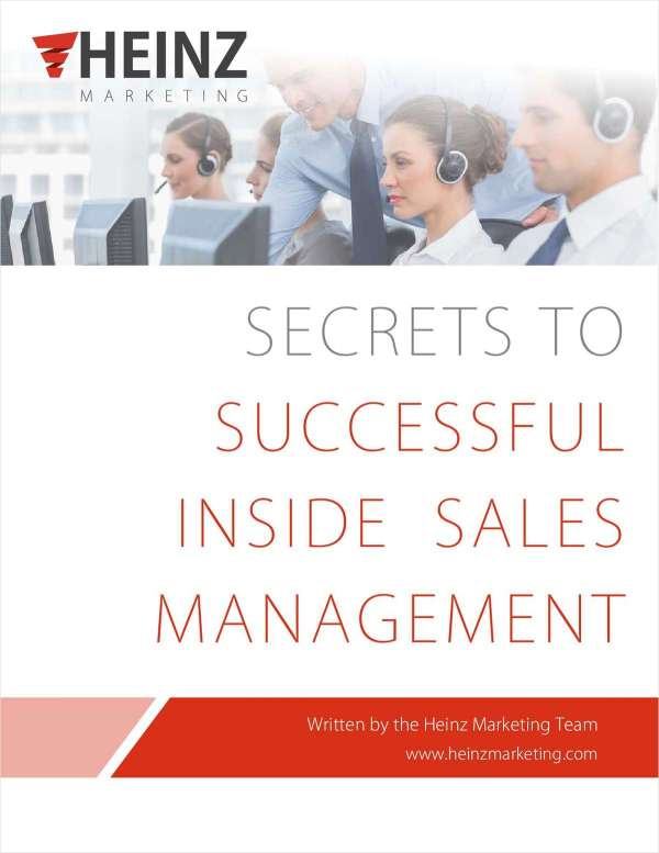 Secrets to Successful Inside Sales Management Free Guide