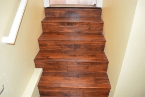 1 Thickness Asian Walnut Wood Stair Treads Stair Covering 1 | Thick Wood Stair Treads | Solid Weathered | Baby Blue White Stair | Custom | Prefinished | Glue Laminated