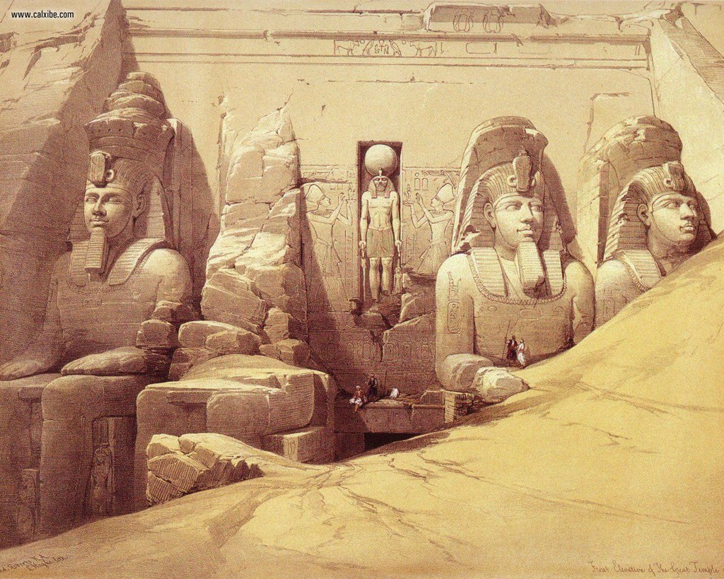 David_Roberts_pg47_The_Colossi_Of_Ramesses_II_At_Abu_Simbel_