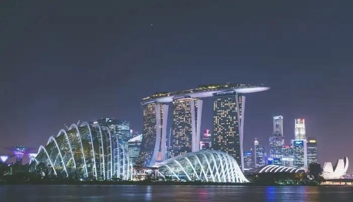 Waterfront Promenade in Singapore
