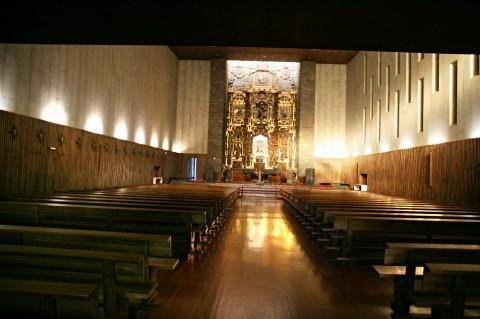Santuario de La Virgen del Camino (Vista interior)