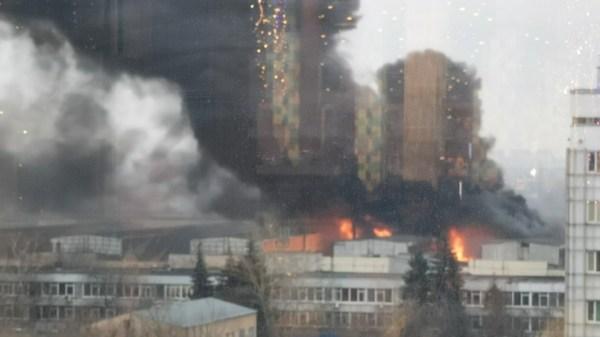 В Москве полыхнуло: горит онкобольница